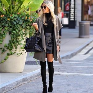 Club Monaco Leather Skirt